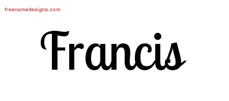 Handwritten Name Tattoo Designs Francis Free Download