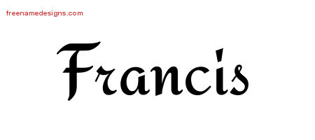 Calligraphic Stylish Name Tattoo Designs Francis Free Graphic
