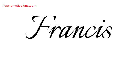Calligraphic Name Tattoo Designs Francis Free Graphic
