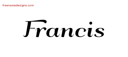 Art Deco Name Tattoo Designs Francis Graphic Download