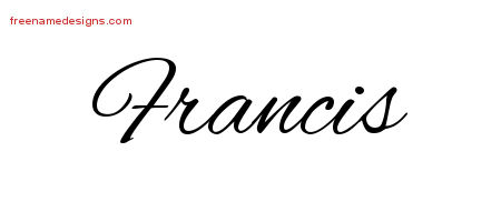 Cursive Name Tattoo Designs Francis Free Graphic