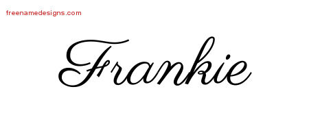 Classic Name Tattoo Designs Frankie Graphic Download