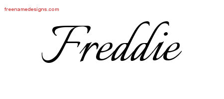 Calligraphic Name Tattoo Designs Freddie Download Free
