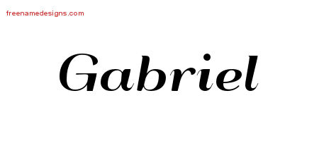 Art Deco Name Tattoo Designs Gabriel Printable