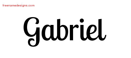 Handwritten Name Tattoo Designs Gabriel Free Download