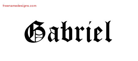 Blackletter Name Tattoo Designs Gabriel Printable