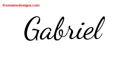 Lively Script Name Tattoo Designs Gabriel Free Printout