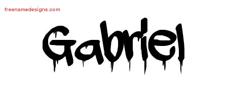 Graffiti Name Tattoo Designs Gabriel Free Lettering