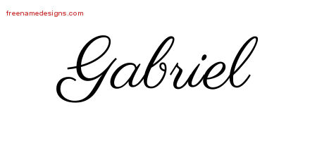 Classic Name Tattoo Designs Gabriel Graphic Download