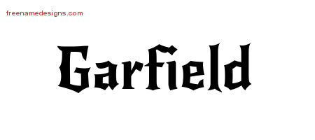 Gothic Name Tattoo Designs Garfield Download Free Free Name Designs