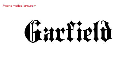 Old English Name Tattoo Designs Garfield Free Lettering Free Name Designs