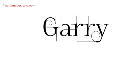 Decorated Name Tattoo Designs Garry Free Lettering