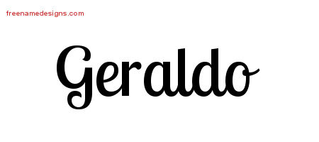 Handwritten Name Tattoo Designs Geraldo Free Printout