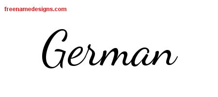Lively Script Name Tattoo Designs German Free Download