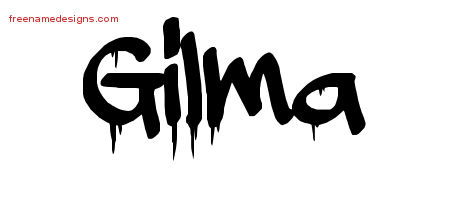 Graffiti Name Tattoo Designs Gilma Free Lettering