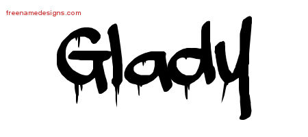 Graffiti Name Tattoo Designs Glady Free Lettering