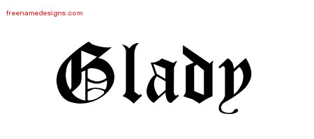 Blackletter Name Tattoo Designs Glady Graphic Download