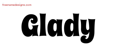 Groovy Name Tattoo Designs Glady Free Lettering