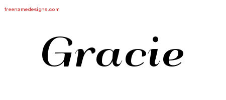 Art Deco Name Tattoo Designs Gracie Printable