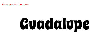 Groovy Name Tattoo Designs Guadalupe Free Lettering