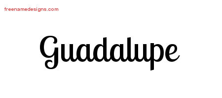 Handwritten Name Tattoo Designs Guadalupe Free Printout