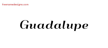 Art Deco Name Tattoo Designs Guadalupe Printable