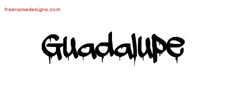 Graffiti Name Tattoo Designs Guadalupe Free