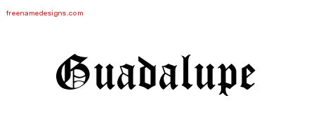 Blackletter Name Tattoo Designs Guadalupe Graphic Download