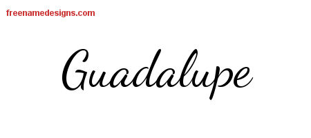 Lively Script Name Tattoo Designs Guadalupe Free Download