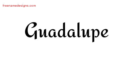 Calligraphic Stylish Name Tattoo Designs Guadalupe Download Free