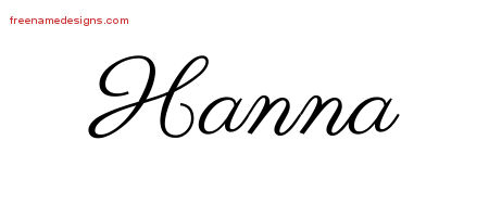 Classic Name Tattoo Designs Hanna Graphic Download