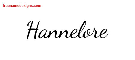 Lively Script Name Tattoo Designs Hannelore Free Printout