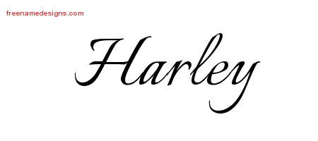 Calligraphic Name Tattoo Designs Harley Free Graphic