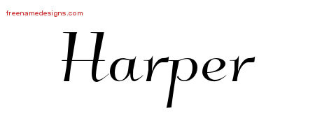 Elegant Name Tattoo Designs Harper Download Free
