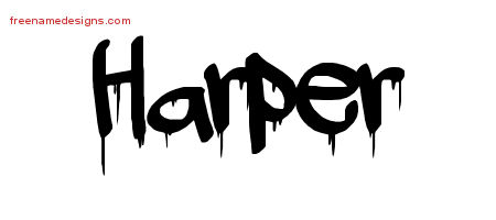 Graffiti Name Tattoo Designs Harper Free Lettering
