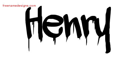 Graffiti Name Tattoo Designs Henry Free Lettering