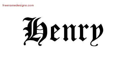 Blackletter Name Tattoo Designs Henry Printable
