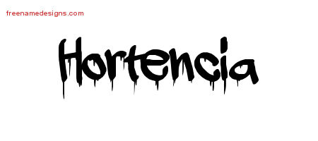 Graffiti Name Tattoo Designs Hortencia Free Lettering