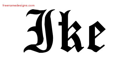 Blackletter Name Tattoo Designs Ike Printable