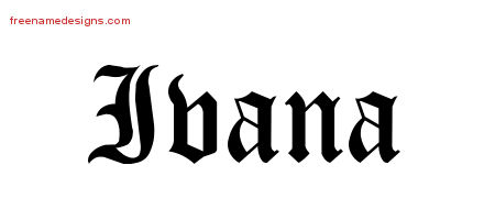 Blackletter Name Tattoo Designs Ivana Graphic Download