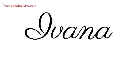 Classic Name Tattoo Designs Ivana Graphic Download