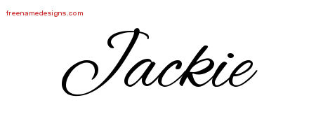 Cursive Name Tattoo Designs Jackie Download Free