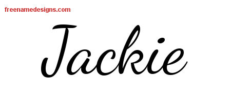 Lively Script Name Tattoo Designs Jackie Free Download