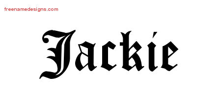 Blackletter Name Tattoo Designs Jackie Graphic Download