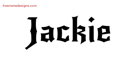 Gothic Name Tattoo Designs Jackie Download Free