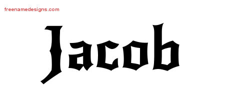 Jacob Name Tattoo