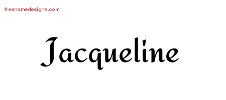 Calligraphic Stylish Name Tattoo Designs Jacqueline Download Free