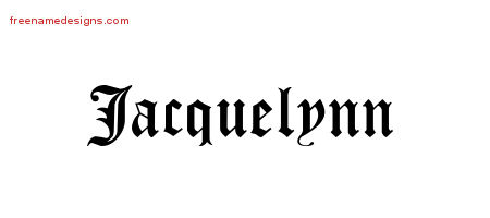 Blackletter Name Tattoo Designs Jacquelynn Graphic Download