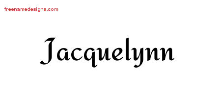 Calligraphic Stylish Name Tattoo Designs Jacquelynn Download Free