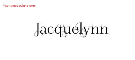 Decorated Name Tattoo Designs Jacquelynn Free